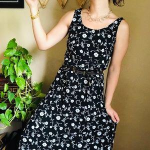 ⌈Vintage⌋ Floral Maxi Dress